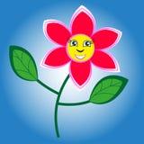 Flor feliz e sorrindo ilustração stock