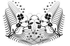 Flor floral ilustração stock