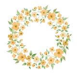 Flor Frame redondo Fotos de Stock