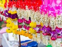 Flor fresca de la guirnalda para selled en el mercado Tailandia Imagen de archivo libre de regalías