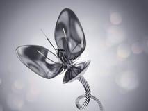 Flor futurista do cromo Foto de Stock