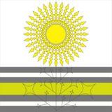 Flor geométrica del sol Fotos de archivo