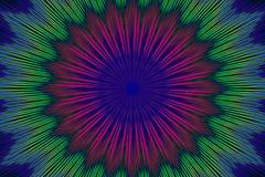 Flor geométrica do teste padrão floral do ornamento decor ilustração do vetor