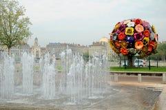 Flor grande em Lyon Fotos de Stock Royalty Free
