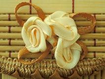 Flor hecha de cordón Fotografía de archivo libre de regalías