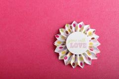 Flor hecha a mano Foto de archivo libre de regalías