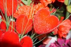 Flor hermosa colorida en forma de corazón roja imágenes de archivo libres de regalías