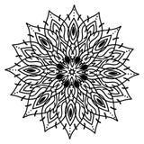 Flor hermosa con el modelo de la mandala Foto de archivo libre de regalías