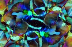 Flor hermosa del color Collage de la flor Tono azul Imágenes de archivo libres de regalías