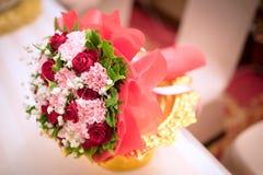 Flor hermosa del ramo para lanzar en escena de la ceremonia de boda Fotos de archivo