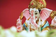Flor hindú del jazmín de Ganesha de dios Imágenes de archivo libres de regalías