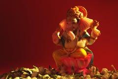 Flor hindú del jazmín de Ganesha de dios Foto de archivo libre de regalías
