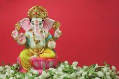 Flor hindú del jazmín de Ganesha de dios Imagen de archivo libre de regalías