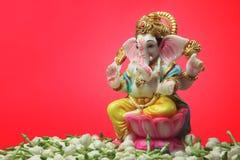 Flor hindu do jasmim de Ganesha do deus fotografia de stock royalty free
