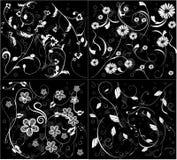 Flor inconsútil cuatro pateern Imagen de archivo