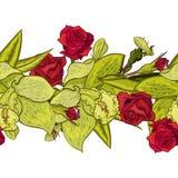 Flor inconsútil del vector Foto de archivo