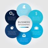 Flor infographic del negocio Fotografía de archivo