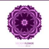 Flor laçado oriental abstrata Fotografia de Stock Royalty Free