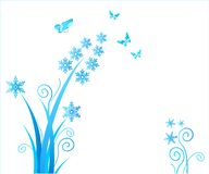 Flor/la Navidad de los copos de nieve ilustración del vector