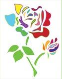 A flor levantou-se Imagens de Stock Royalty Free