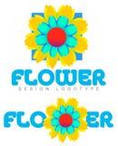 Flor Logo Concept Imagenes de archivo