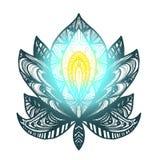 Flor Lotus Tattoo Fotos de archivo