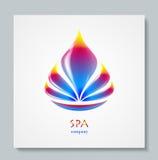 Flor luxuosa do arco-íris do logotipo da imagem Projeto de negócio para termas, classe da ioga, hotel e recurso Illusration do ve Imagem de Stock Royalty Free