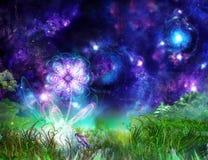 Flor maravilhosa do conto de fadas ilustração do vetor
