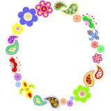 flor-marco Foto de archivo libre de regalías