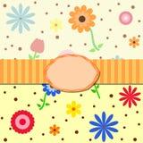 Flor minúscula con el fondo inconsútil del modelo de los puntos Fotografía de archivo libre de regalías
