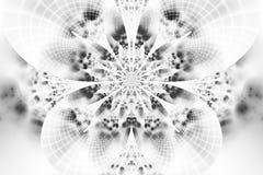 Flor monocromática abstrata no fundo branco Fotos de Stock