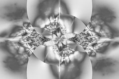 Flor monocromática de incandescência abstrata no fundo branco Fotografia de Stock