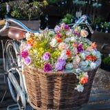 Flor na bicicleta Foto de Stock