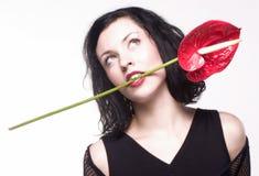 Flor na boca 2 Fotografia de Stock Royalty Free