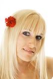 Flor no cabelo Fotografia de Stock Royalty Free
