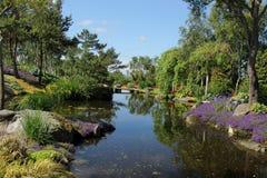Flor og Fjaere. A beautiful summer garden on an island near Stavanger, Norway stock image