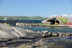 Flor og Fjaere. A beautiful summer garden on an island near Stavanger, Norway stock photo