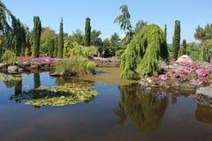 Flor og Fjaere. A beautiful summer garden on an island near Stavanger, Norway stock images