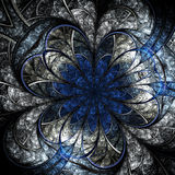 Flor oscura del fractal, ilustraciones digitales Fotografía de archivo