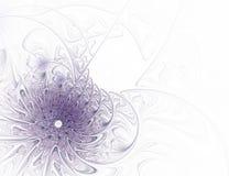 Flor púrpura del fractal abstracto en el fondo blanco imagen de archivo libre de regalías