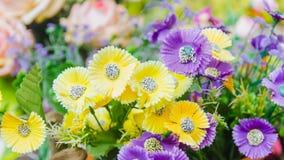 Flor púrpura y amarilla Fotos de archivo