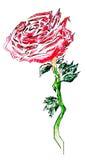 Flor pintada Fotografia de Stock Royalty Free