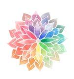 Flor pintada acuarela del arco iris Fotos de archivo libres de regalías