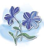 flor, pintura decorativa Fotografia de Stock