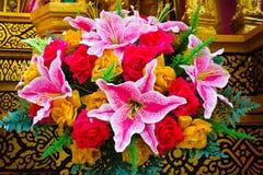 Flor plástica em Yasothon Rocket Parade Fotografia de Stock Royalty Free