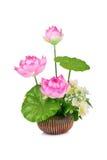 Flor plástica para a decoração fotografia de stock