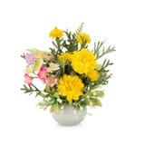 Flor plástica para la decoración fotos de archivo
