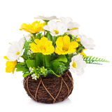 Flor plástica para la decoración imágenes de archivo libres de regalías