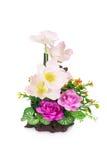 Flor plástica para la decoración foto de archivo