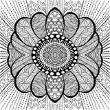 Flor preta ilustração royalty free
